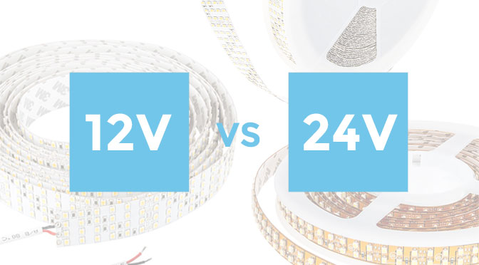 What's the difference between 12VDC vs. 24VDC Flexible LED Strip Lights?